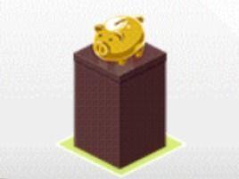デレステ 豚の貯金箱/ゴールド