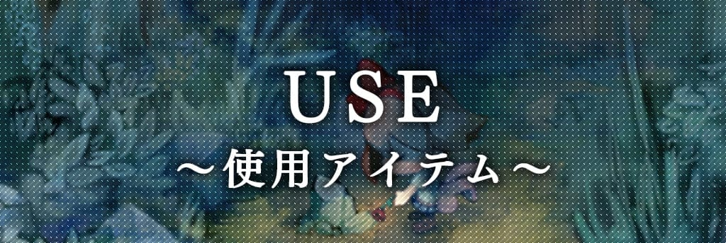 USE 使用アイテム